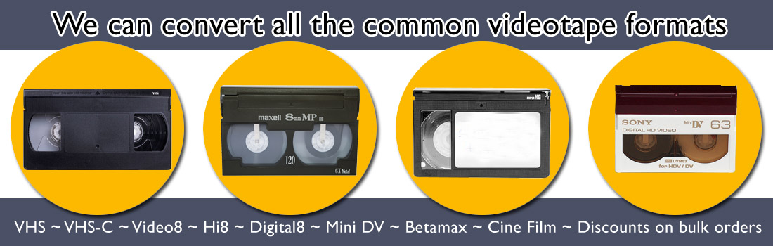 Tapes2USB Video Formats