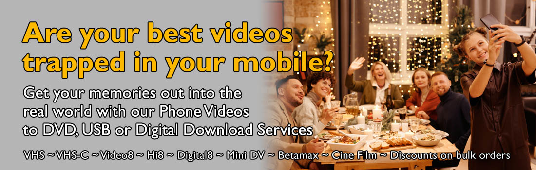 Phone Videos to DVD or USB - Get yours converted today