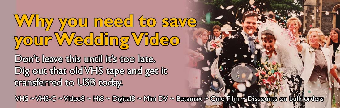 Wedding Video transferred to USB or DVD Featured Image