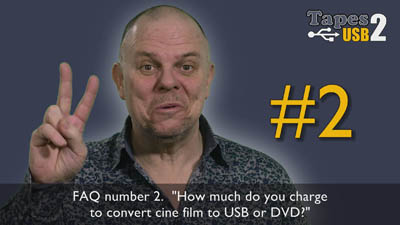 How much does it cost to transfer my cine films to USB or DVD