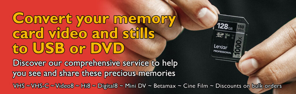 Tapes2USB can Convert your Memory Cards to USB or DVD
